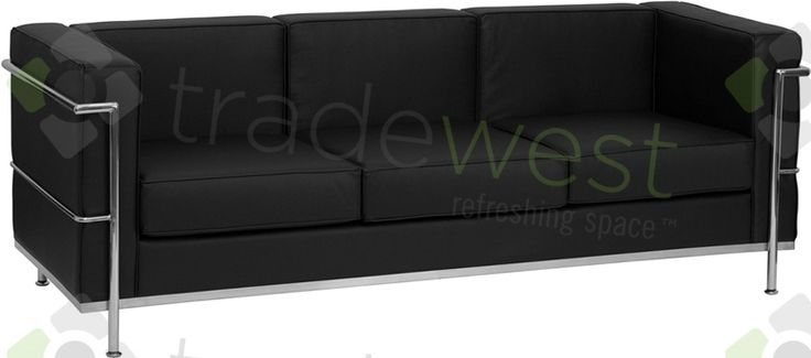 ENERGi - 810-3 Sofa - Black Leather