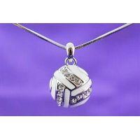 Violet Victoria - Volleyball Enamel necklace