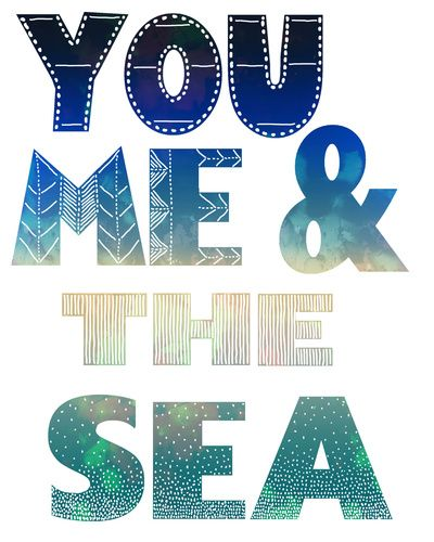 You Me & the Sea Art Print By SchatziBrown