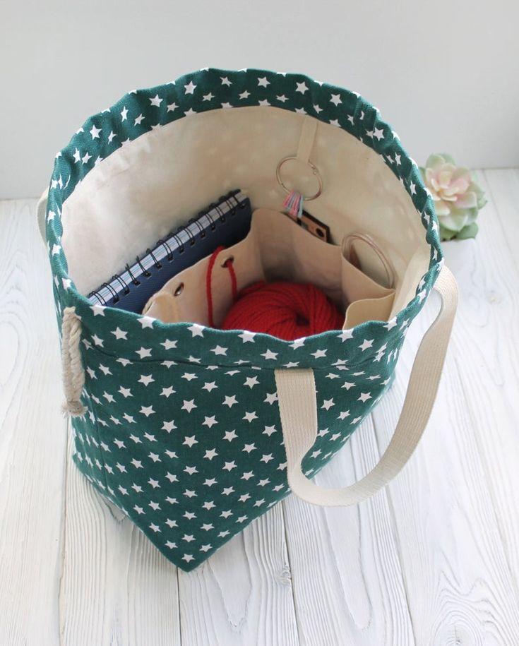 Zipper Project Bag Travel Knitting Bag Canvas Project Bag Knitting