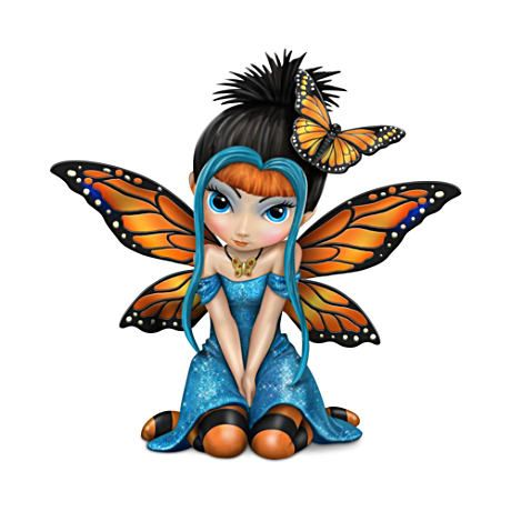 "Jasmine Becket-Griffith ""Butterfly Kisses"" Fairy Figurine"