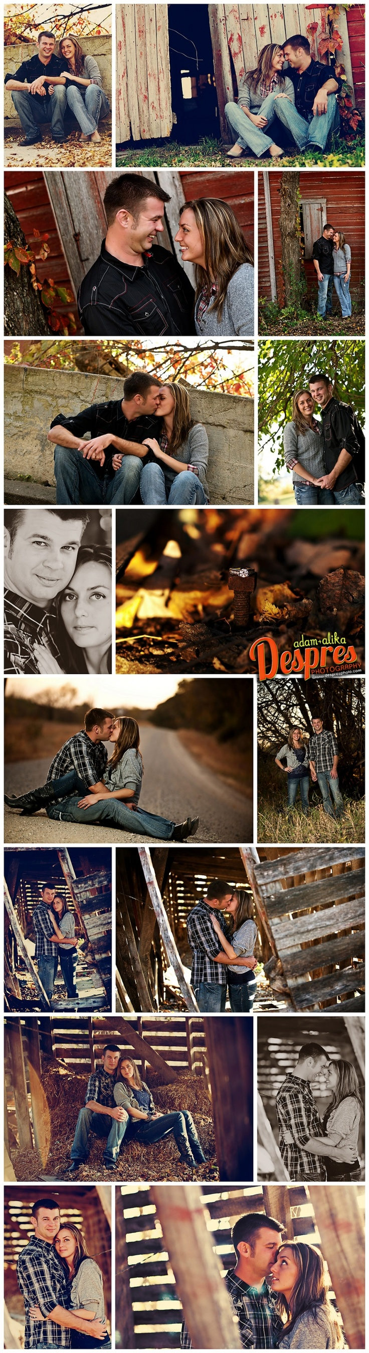 Engagement Pose Ideas - Like the ones in the abandoned buildings/barns