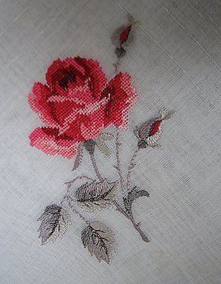 Vintage Petit Point Hankie