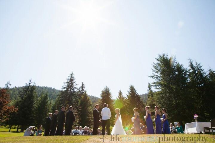 Outdoor Ceremony. Wedding. 2012.