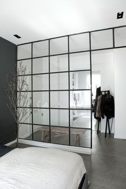 Metal frame window partition