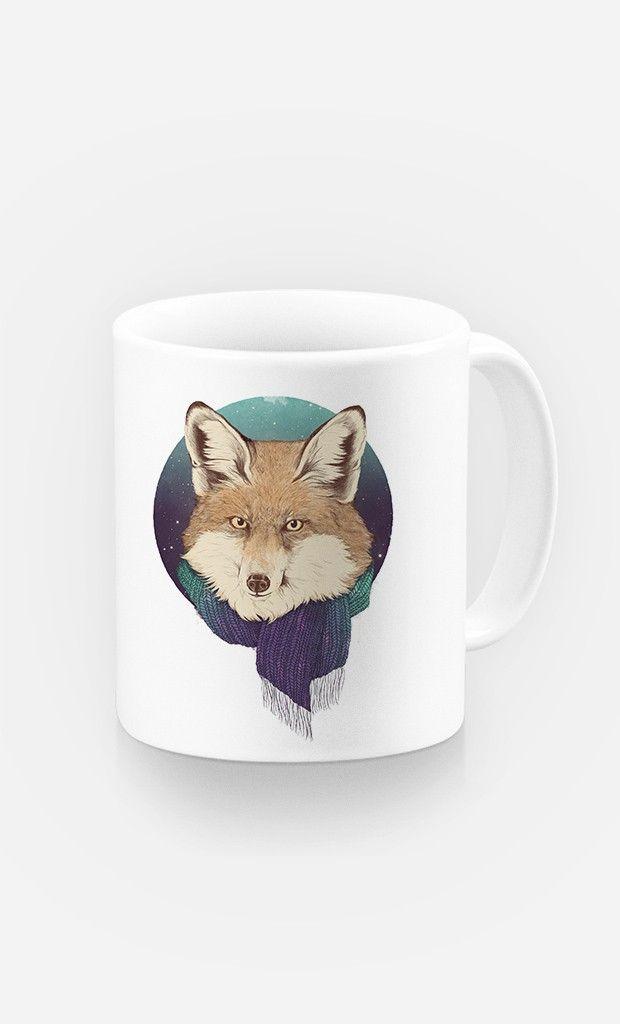 Mug Winter Fox par Laura Graves - Wooop.fr