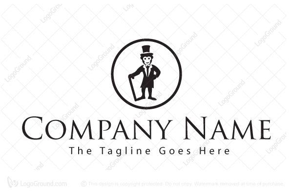 Logo for sale: Top Hat Monkey Logo