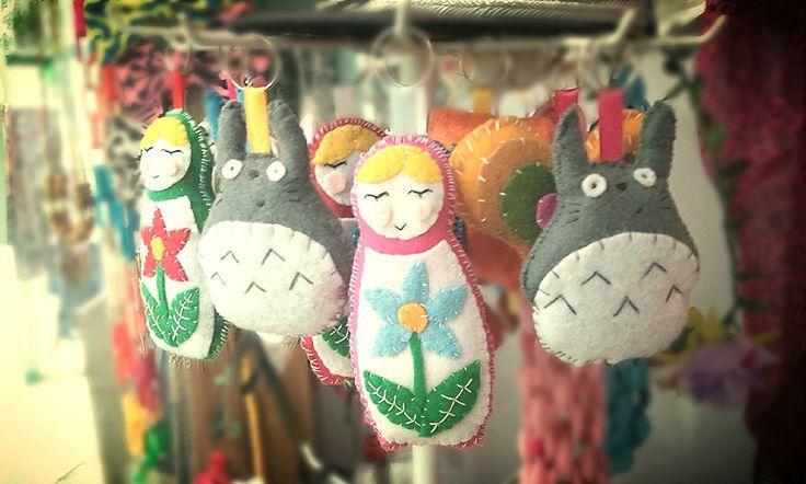 Llaveros hechos a mano <3  https://www.facebook.com/pages/La-Gata-Flaca/114335372009699  #llavero #handmade #felt #fieltro #hechoamano #chile #viñadelmar #keychains
