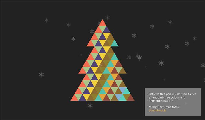 25 Cool Christmas Illustrations Made With Css Javascript