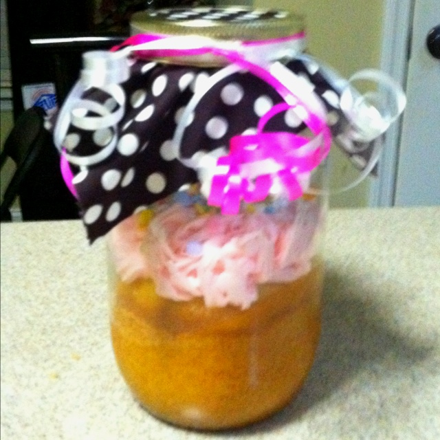 Birthday cake in a jar {for long distance birthday wishes}