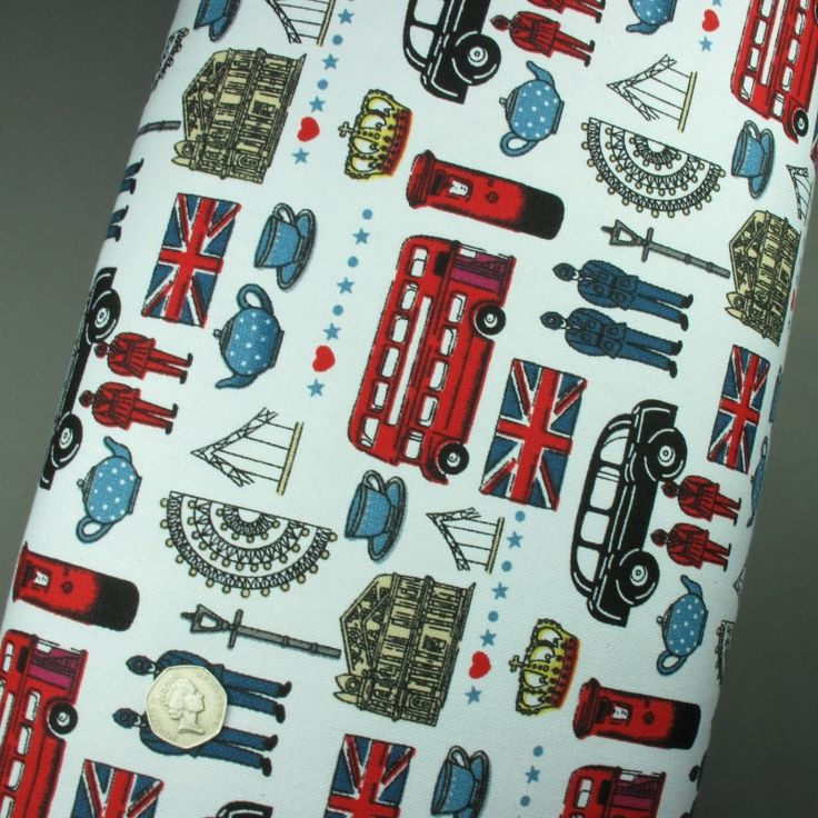 100% Polyester Canvas Fabric London Red Bus Print - Sold per metre