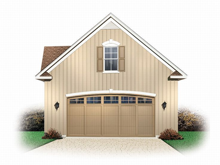 Two Car Garage With A Above Apartment Loft Plan 028g 0014 Ger Window Or Even Doors Mom S Lake Retreat Pinterest