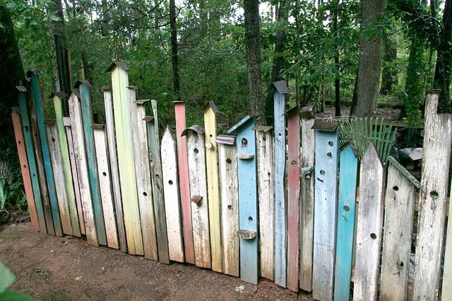 Fågelälskarens pastelliga staket