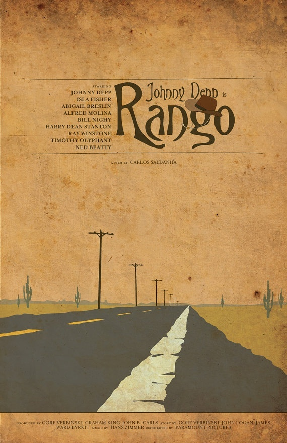 Rango (2011, humorous, unique, and ugly; its a love letter to western fanatics)