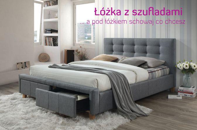 łóżko Ascot 160x200 Szare Z Szufladami In 2019 łóżka Do