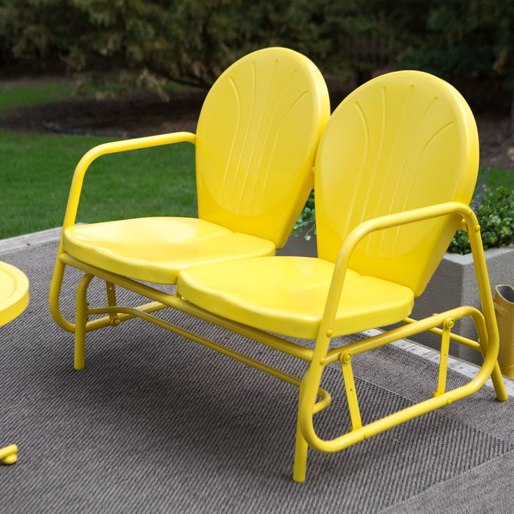 Have to have it. Coral Coast Vintage Retro Outdoor Glider Loveseat - $149.98 @hayneedle