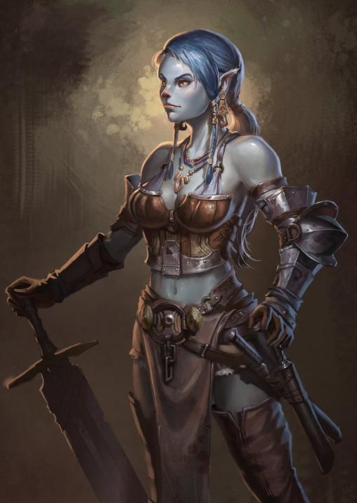 Name: Lilaia Artist: zhangqipeng;  Tags: Mouse; Female; Barbarian; Warrior; Half-Elf; Half-Orc;