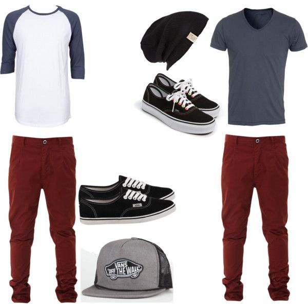 men's outfits! by bethtomlisoncarrots on Polyvore featuring Vans, Line and River Island