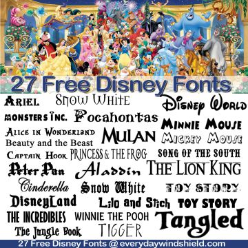 27 Free Fonts : Vol. 3 : Disney Fonts (plus Frozen extra)