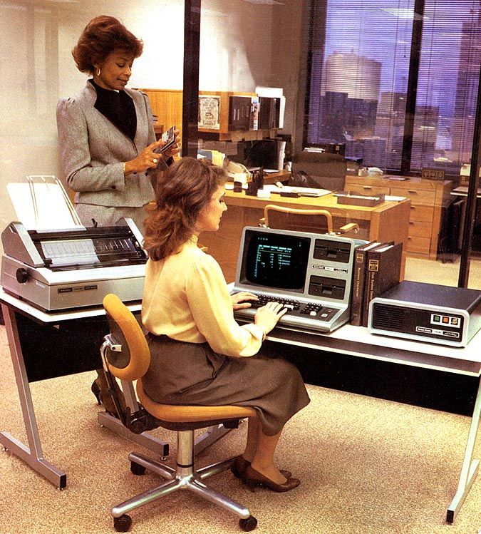 1000 images about women and retro computers on pinterest - Retro office desk ...