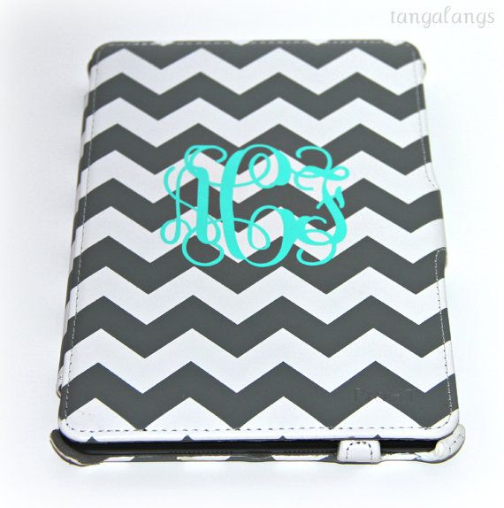 iPad Mini Case Personalized Monogram by tangalangs on Etsy, $47.00