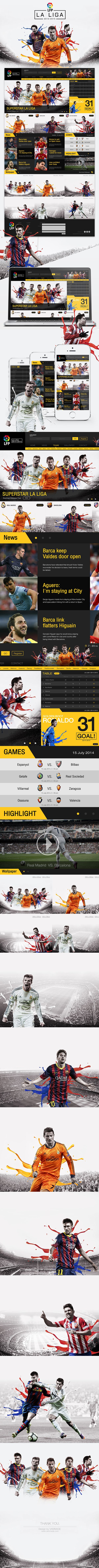 LA LIGA 2014 - 2015 Website by Chakkraphon Phonmidet, via Behance