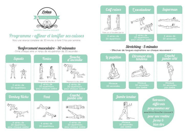 les 25 meilleures id es concernant exercices pour les cuisses sur pinterest s ances d. Black Bedroom Furniture Sets. Home Design Ideas