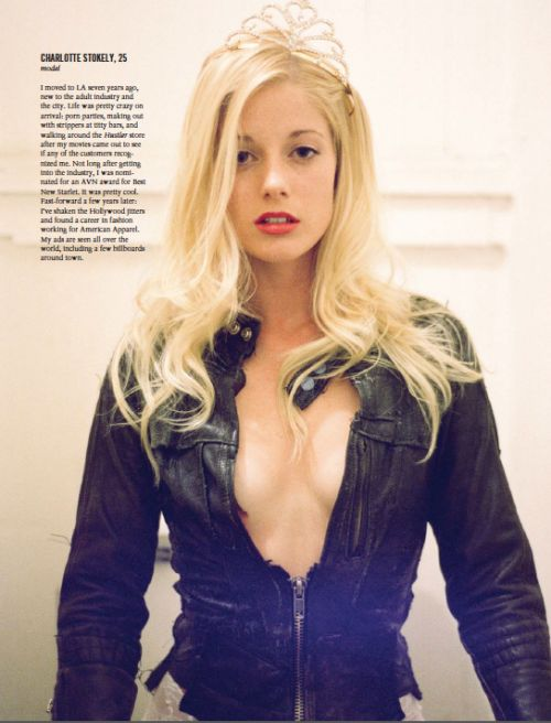 Throwback Thursday shot of Charlotte Stokely in Vice ...