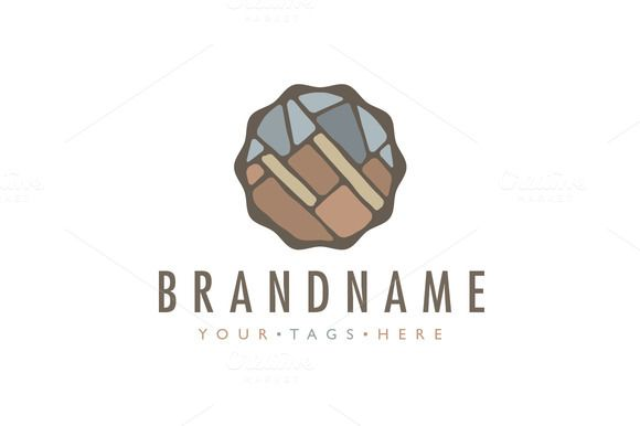 For sale. Only $29 - simple, circle, brown, gray, mountain, mount, peak, rock, ring, wavy, stone, marble, masonry, decoration, hill, wall, tile, massive, hidden, granite, quartz, geology, feldspar, mica, earth, interior, crystal, mineral, gem, logo, design, template,