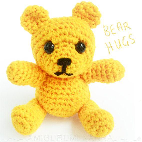Teddy Bear  Amigurumi Bear  Handmade Toys  by AmigurumiNanna