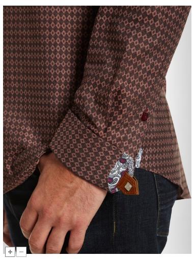 Shirt detail buttons + pattern