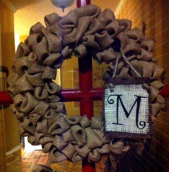 Burlap Wreath: Decor Ideas, Doors Decor, Fall Crafts, Custom Monograms, Front Doors, Diy Gifts, Fall Wreaths, Fall Burlap Wreaths Monograms, Crafty Ideas