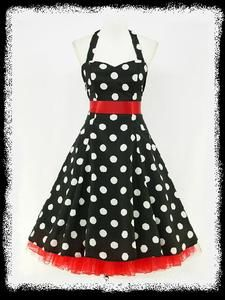 Dresse Rockabilly Wedding Dress | ... BLACK POLKA DOT 50's PINUP ROCKABILLY SWING PROM DRESS UK 8-26 | eBay