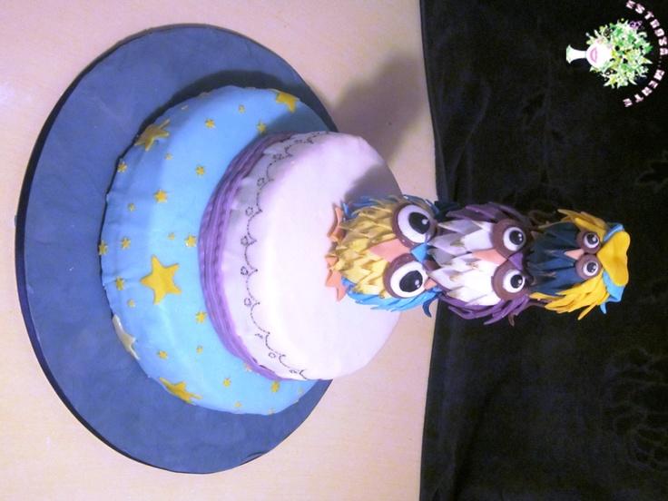 torta con gufetti