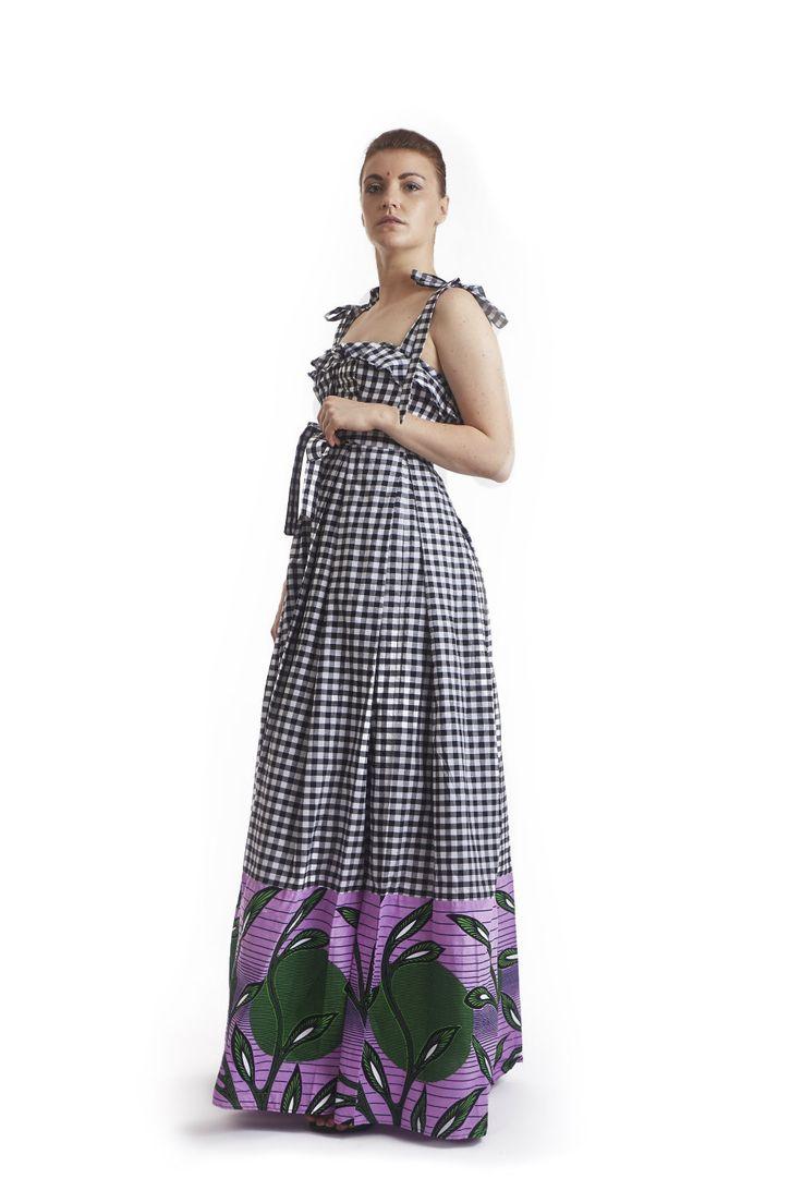 Celino gingham maxi dress | Design | Gingham, Dresses ...