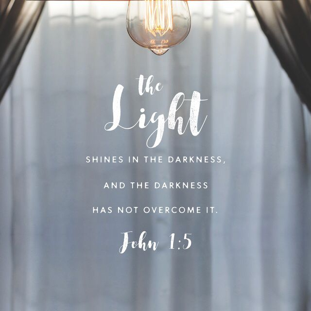 """""""And the light shines on in the darkness, but the darkness has not mastered it."""" John 1:5 NET http://bible.com/107/jhn.1.5.net"""