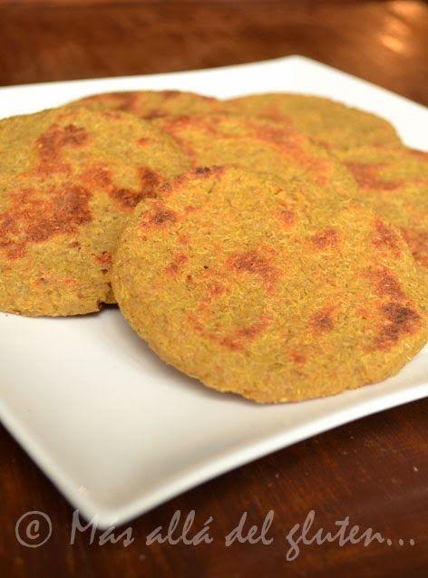 Más allá del gluten...: Arepas de Quinua (Receta GFCFSF, Vegana)