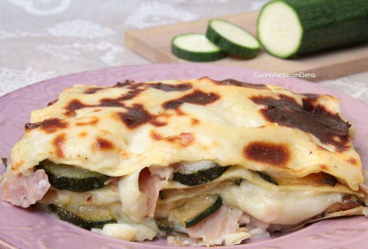 lasagne zucchine e prosciutto