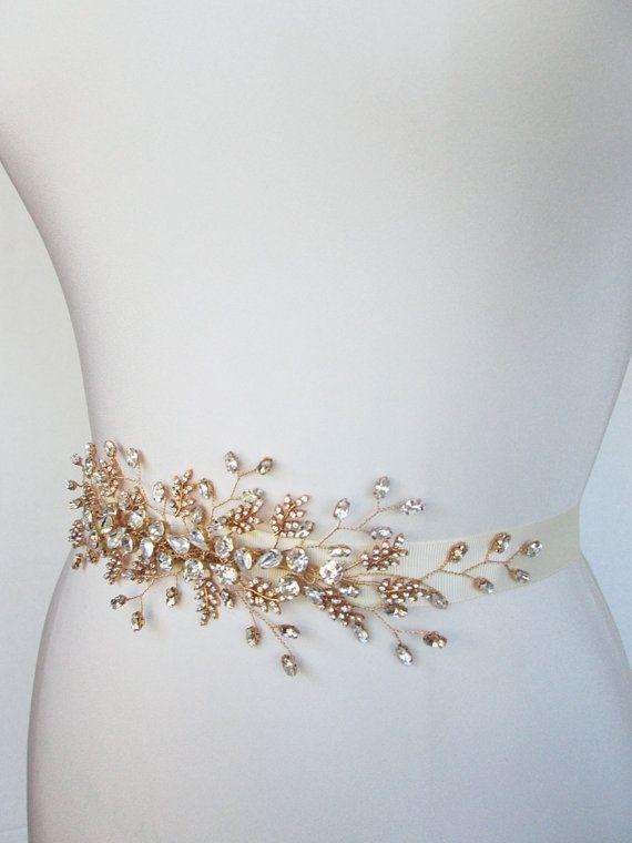 Bridal crystal belt sash Bridal belt with by SabinaKWdesign, $284.00