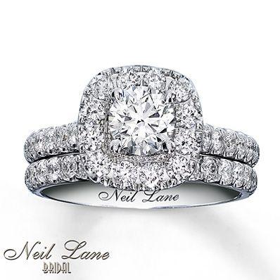 option #1 NEIL LANE BRIDAL SET 1 7/8 CT TW DIAMONDS 14K WHITE GOLD Stock number: 940219600 $6299.99