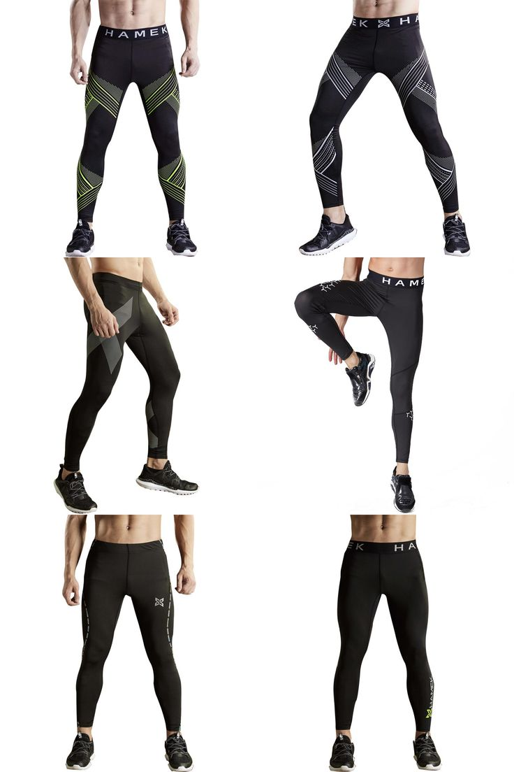 [Visit to Buy] 2017 quick dry sport leggings men running tights compression skins gym fitness basketball tights running training pants trousers #Advertisement