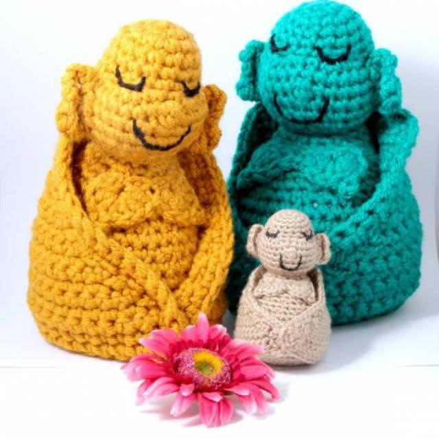 9 Cute Crochet Buddha Patterns: Amigurumi Buddha Pattern