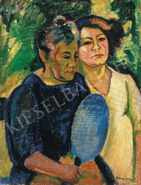 Czigány Dezső - Két nő arcképe, 1909 festménye