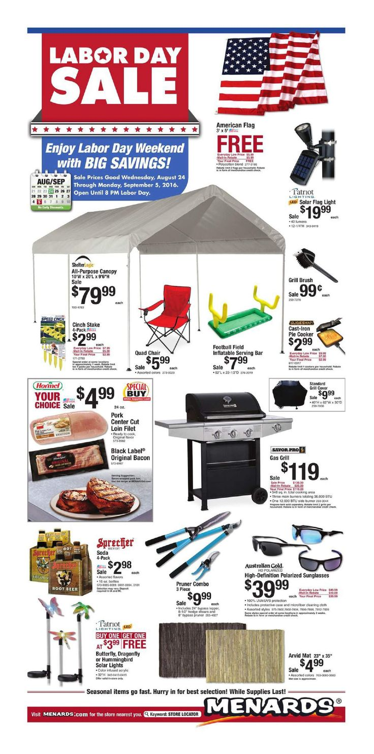 Menards Weekly Ad August 24 - 5 September, 2016…