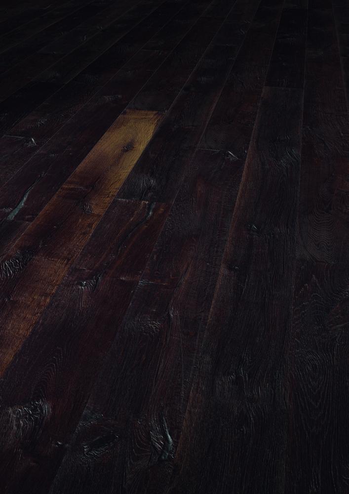 1156351 Solidfloor Parkett Eiche Torres del Paine Landhausdiele extra rustikal gebürstet gefast thermobehandelt natur geölt AXWOOD