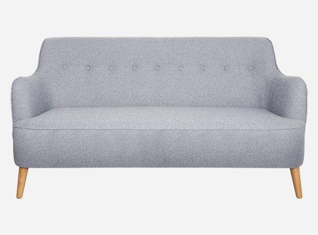 Sf0100 - Sofa, Quest, grey melange, 161x75 cm, h.: 85 cm