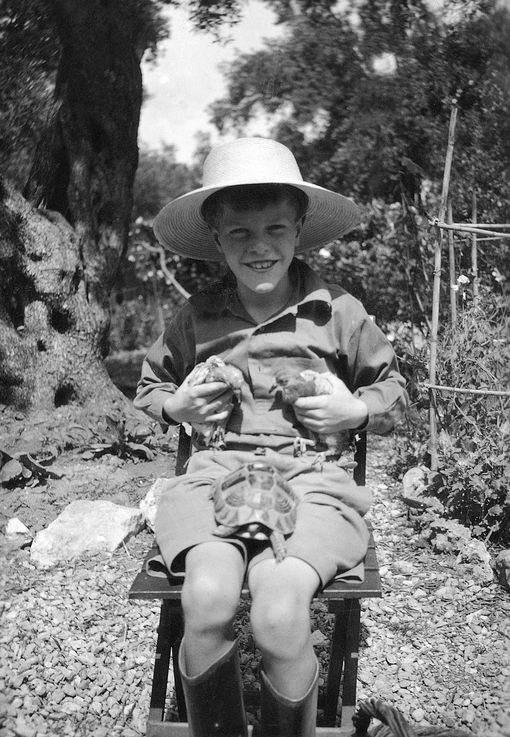 Gerald Durrell as young boy on Corfu
