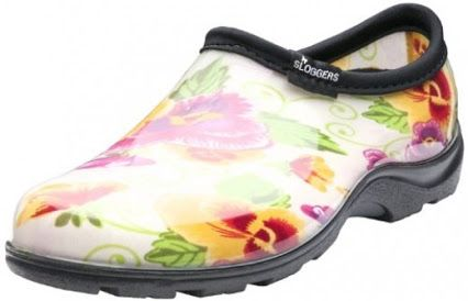 great gift idea for gardeners - I love them - sloggers garden shoee - mush easier to slip on and on than wellies