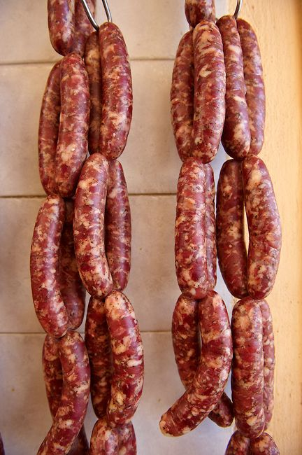 "This is my Greece | Sausages ""skordoloukanika"" (sausages with garlic) from Syros Island, Cyclades"