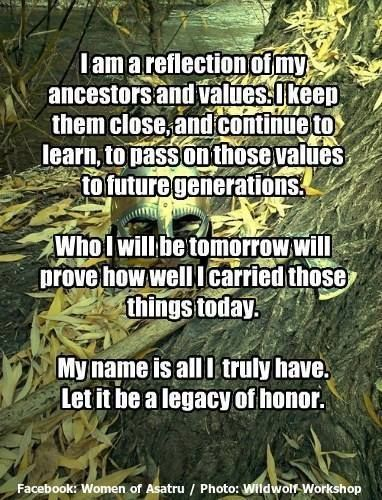 Let it be a legacy of honour!
